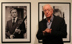 Michael Caine views the Museum of London exhibition