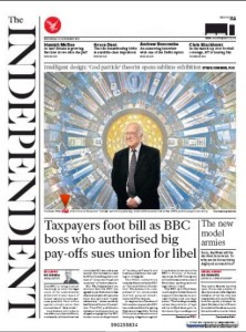 The Independent, front page 13.11.13 (Collider)